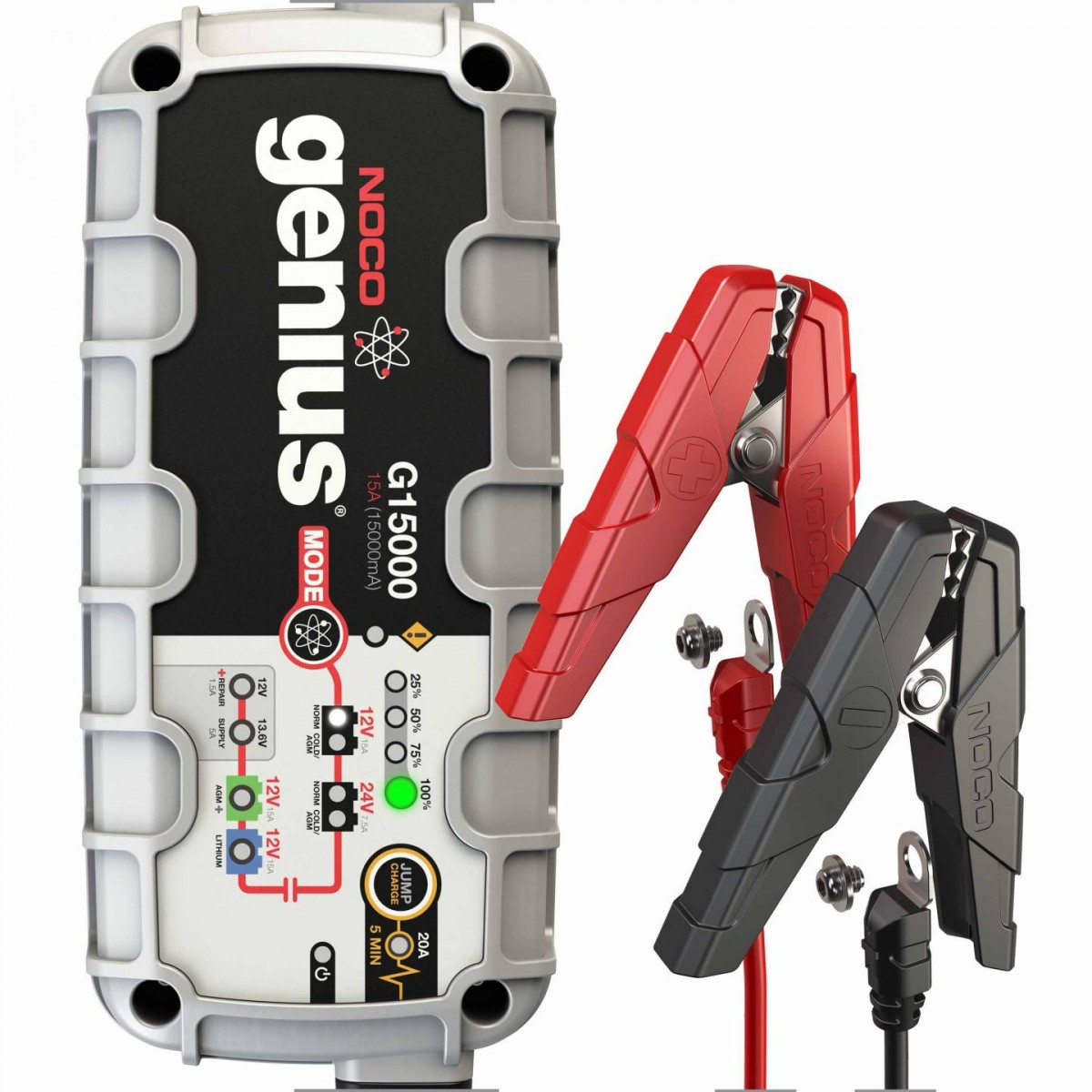 Noco Genius G15000EU UltraSafe Battery Charger with Engine Start 15 Amp EU plug