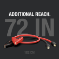 72-inch Additional Reach. Coiled battery clamp accessory showing cable length.