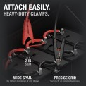 Attach Easily. Clamps attaching to a wide terminal and a narrow battery terminal.