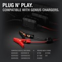 Plug N' Play. GC001 clamps on the ground next to a variety of genius chargers
