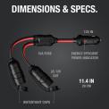 NOCO GC020 12-Volt Adapter 2-Way Splitter Dimensions & Specs