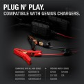 Plug N' Play. GC014 clamps on the ground next to a variety of genius chargers