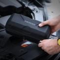 NOCO GBC013 EVA Case being unzipped to jump start vehicle