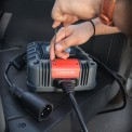 NOCO GXC006 3-pin Golf Cart charging connector is being installed on NOCO GX industrial Charger
