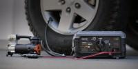 GB500 12V and 24V jump starter 12V tire pump lifestyle