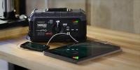 GB500+ 12V and 24V jump starter charging USB device lifestyle