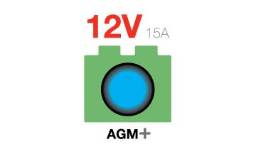 12V Advanced AGM Plus Battery Charger For Start-Stop Vehicles And Deep-Cycle Applications