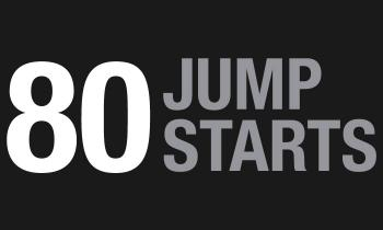 80 jump starts per one charge of Boost