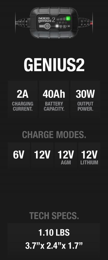 Genius2 2 Ampere Tech Specs