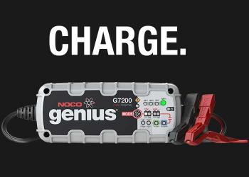 NOCO Genius 12-Volt and 6V Portable Car Battery Charger with Trickle, Tender and Maintainer Modes.