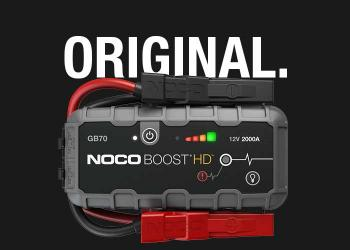 The upgraded NOCO Boost. Now with more power and featuring needle-nose battery clamps for more access.