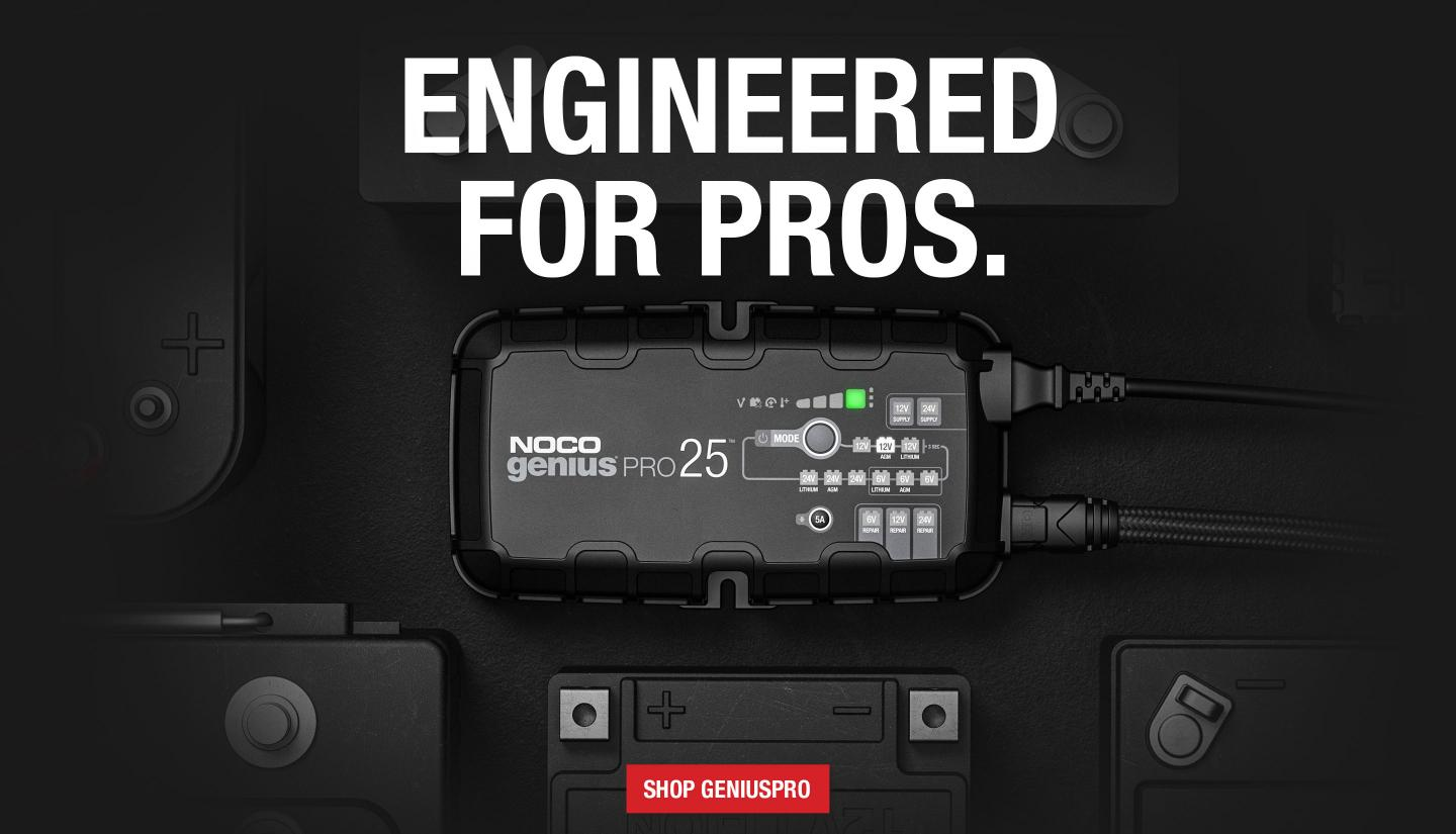 Professional battery chargers with more performance and more automation than ever before. An advanced architecture that pushes the limits of power efficiency for incredibly compact size and unprecedented power. Welcome to the all new GENIUSPRO.