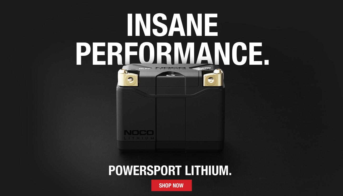The all-new NOCO Lithium NLP Powersport batteries designed and engineered with active BMS with more starting power, safety, longer run time, and universal fitment.