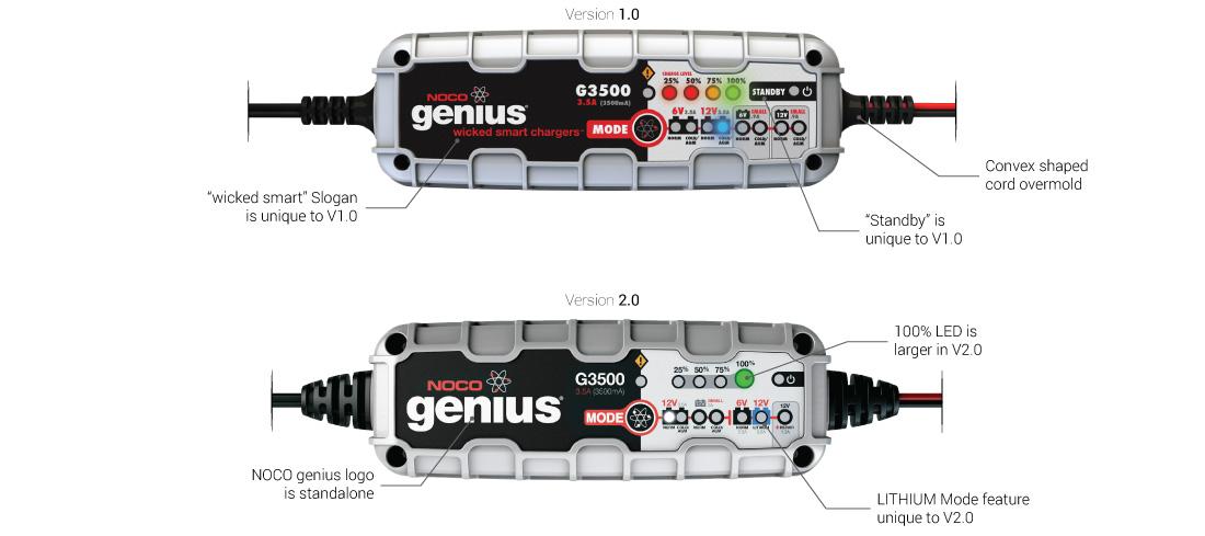 genius 1.0 vs 2.0 g3500